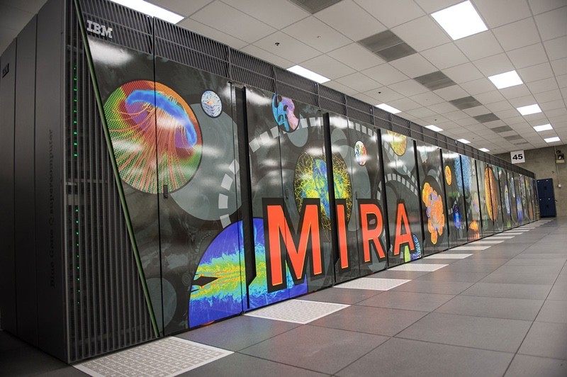 米拉(Mira) 排名第五的米拉同样由IBM公司制造,目前被安装在伊利诺伊州的阿贡国家实验室(Argonne National Laboratory),主要被用于地震学、化学、材料科学和气象学等领域的研究工作。