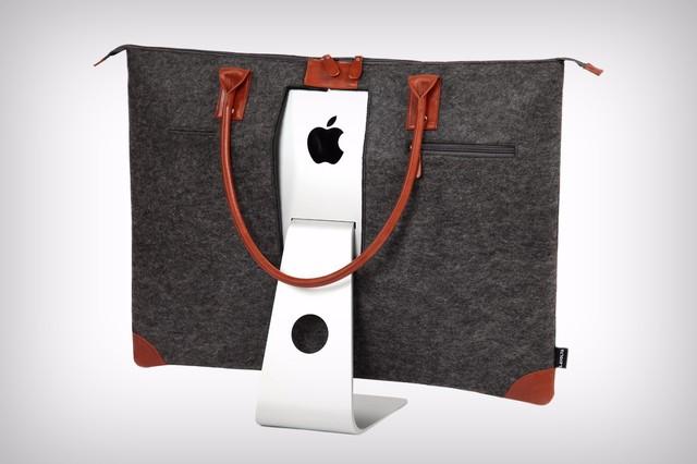 如果你想移动你的iMac电脑怎么办?国外的设计师为此设计了一款专门适用的包包。