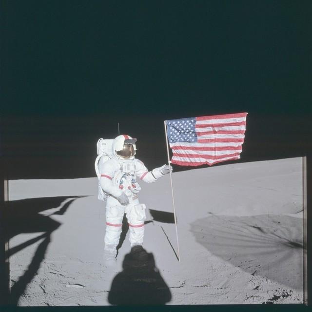 人类一大步 NASA公布的阿波罗登月照片