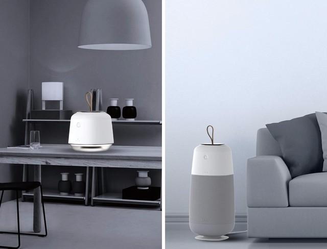手提式照明和空气净化器装置,一物多用,而且十分便携,居家好帮手。
